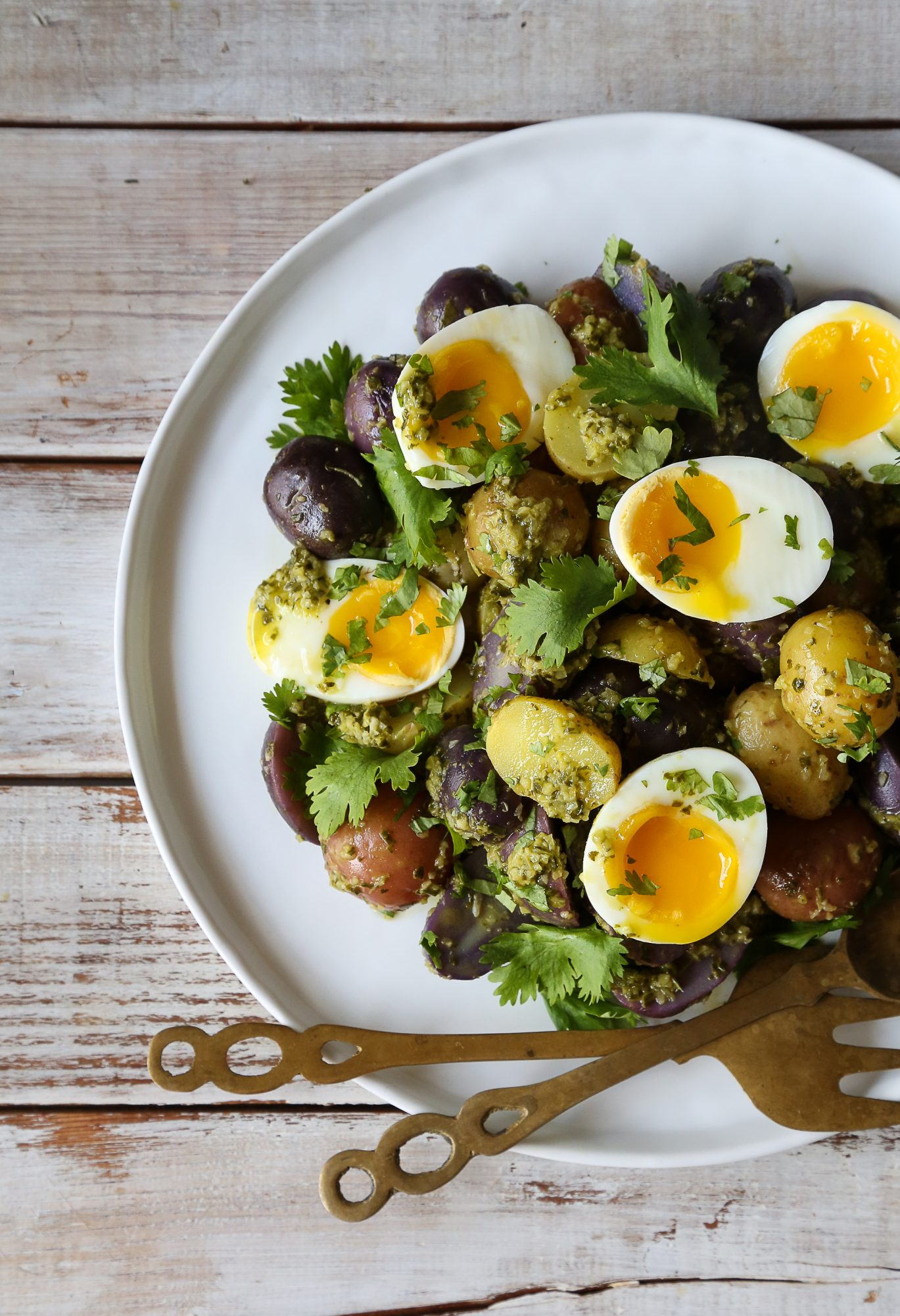 Chimichurri Potato and Egg Salad