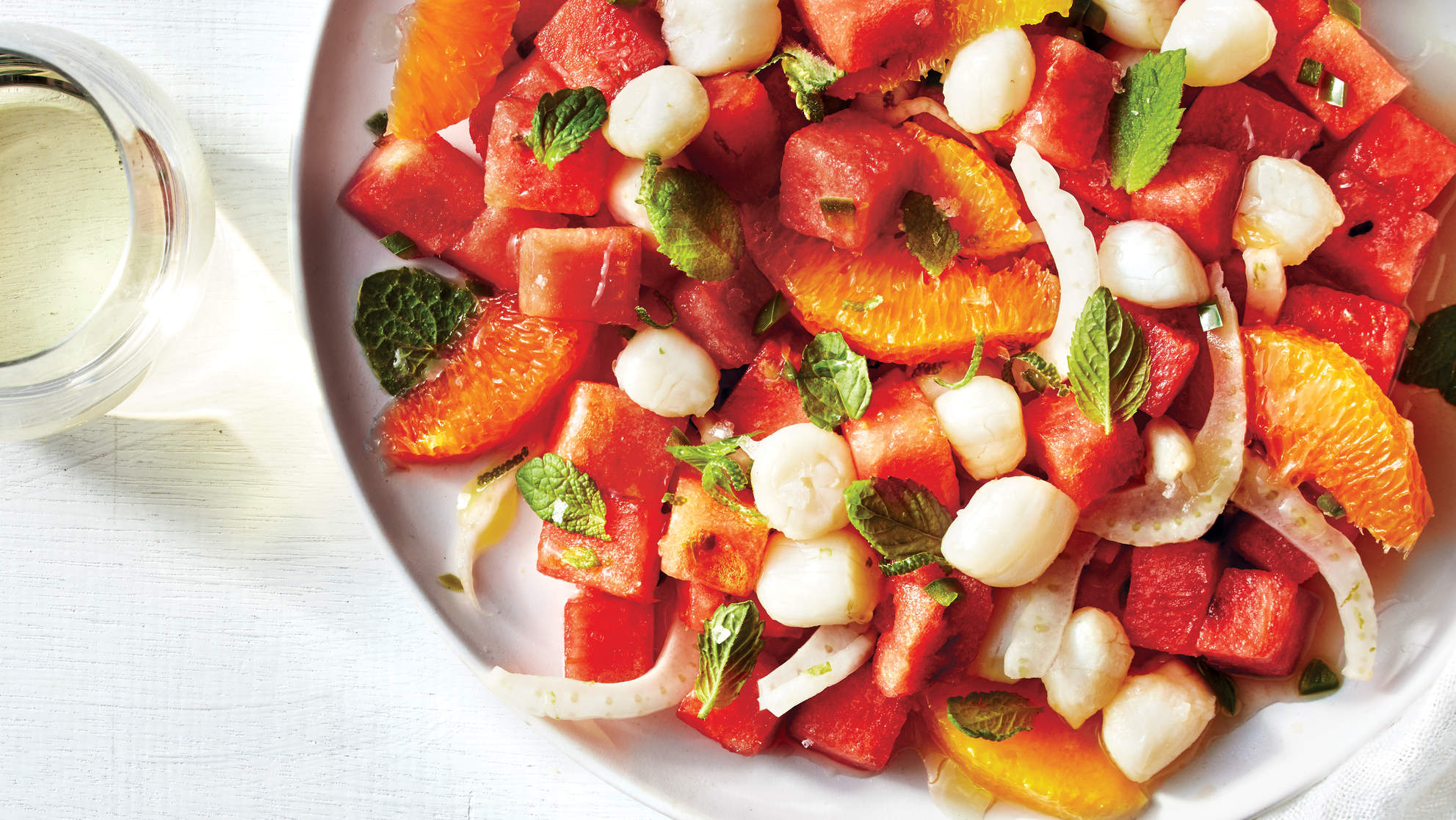 Watermelon and Scallop Ceviche