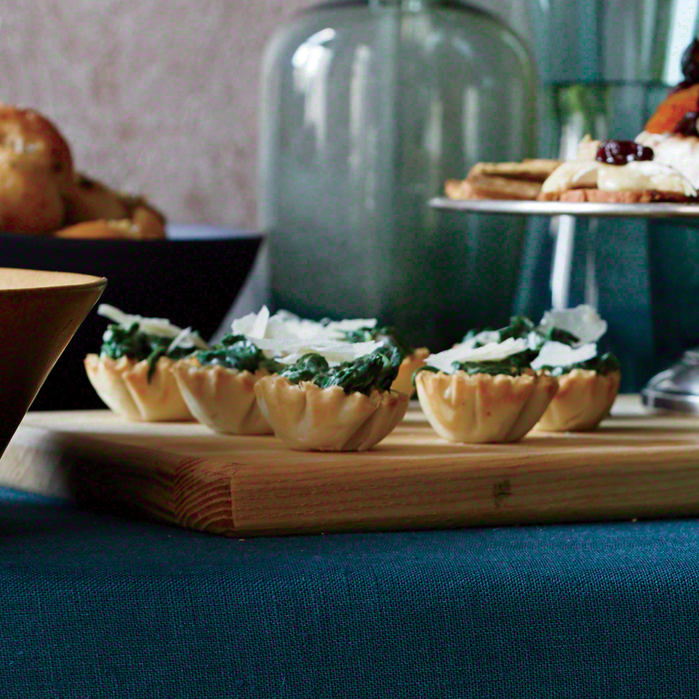Creamed Spinach Phyllo Cups