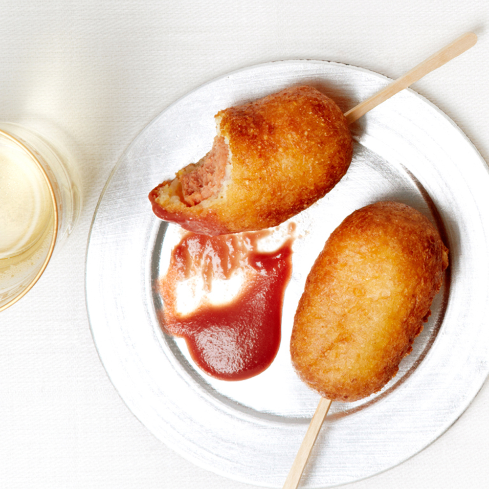 Easy Finger Food Ideas Cocktail Party Part - 40: Mini Corn Dogs With Cranberry Mustard