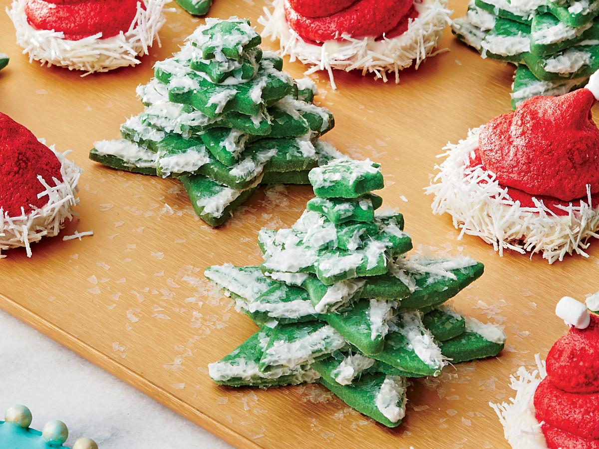 Snowy Tree Cookies
