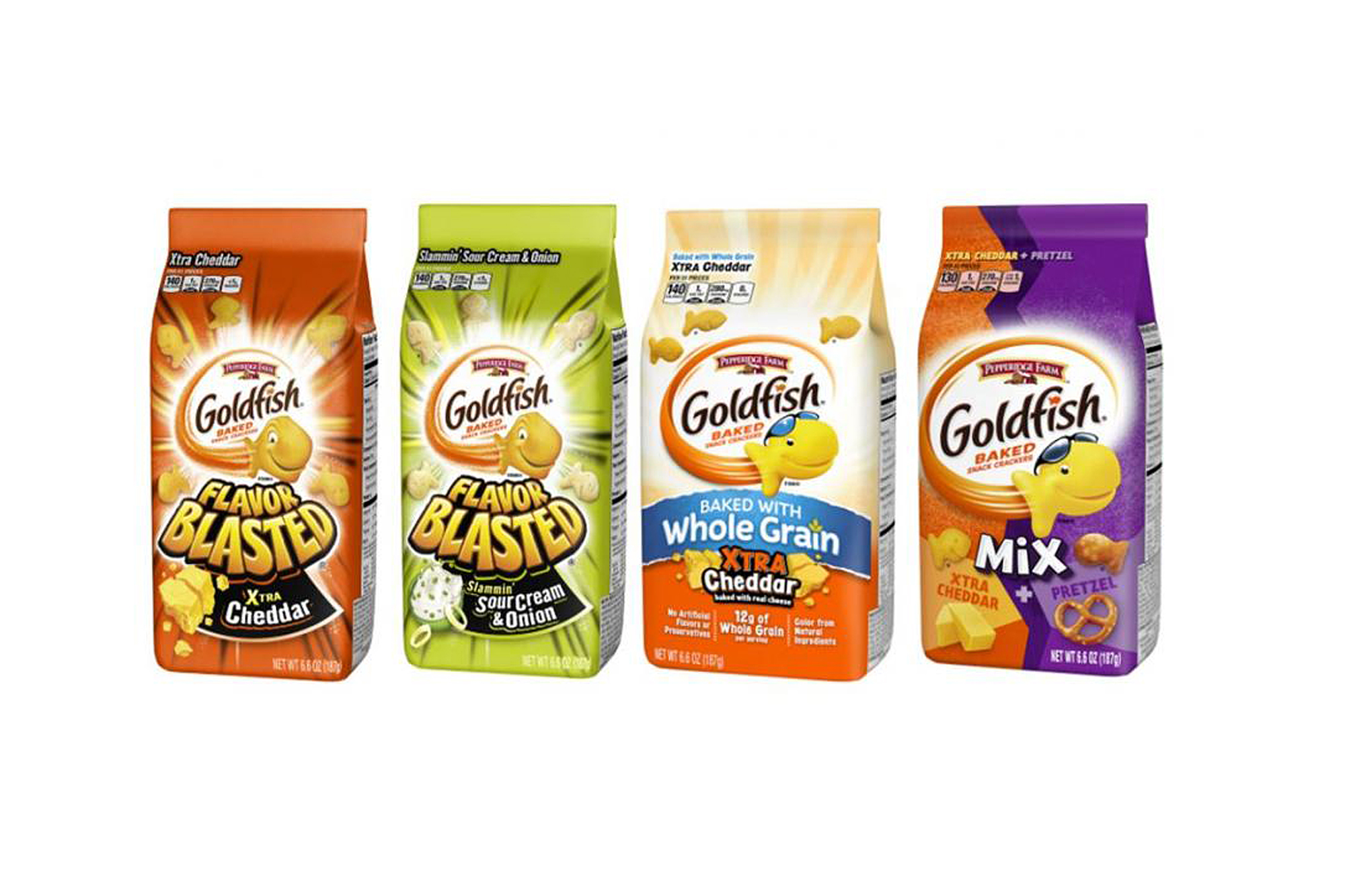 Pepperidge Farm Recalls 4 Different Kinds of Goldfish Crackers Due to Salmonella Risk goldfish-recall-flavors-1-2000