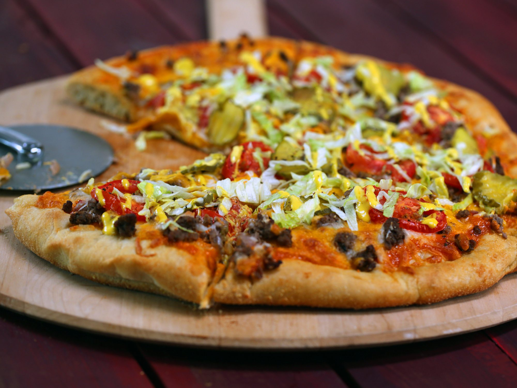 Cheeseburger Pizza image