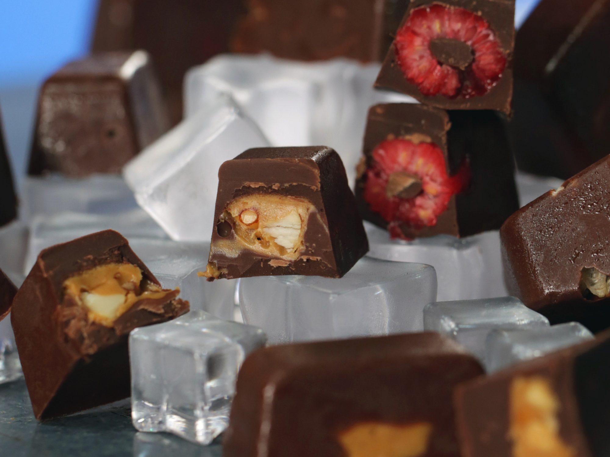 Ice Cube Tray Chocolate Treats image