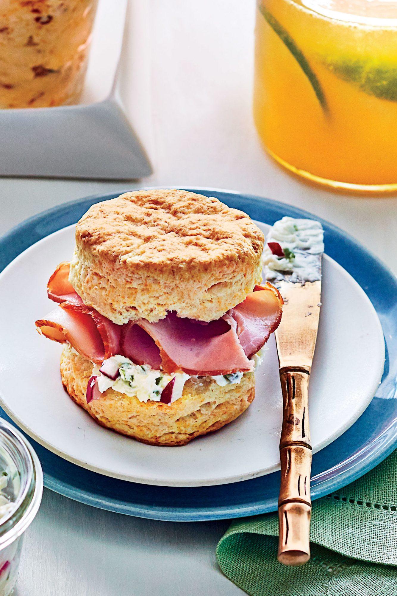 Buttermilk Biscuits with Ham