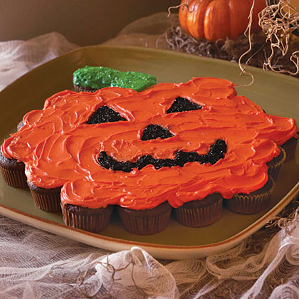 Pumpkin Shaped Cupcake Cake