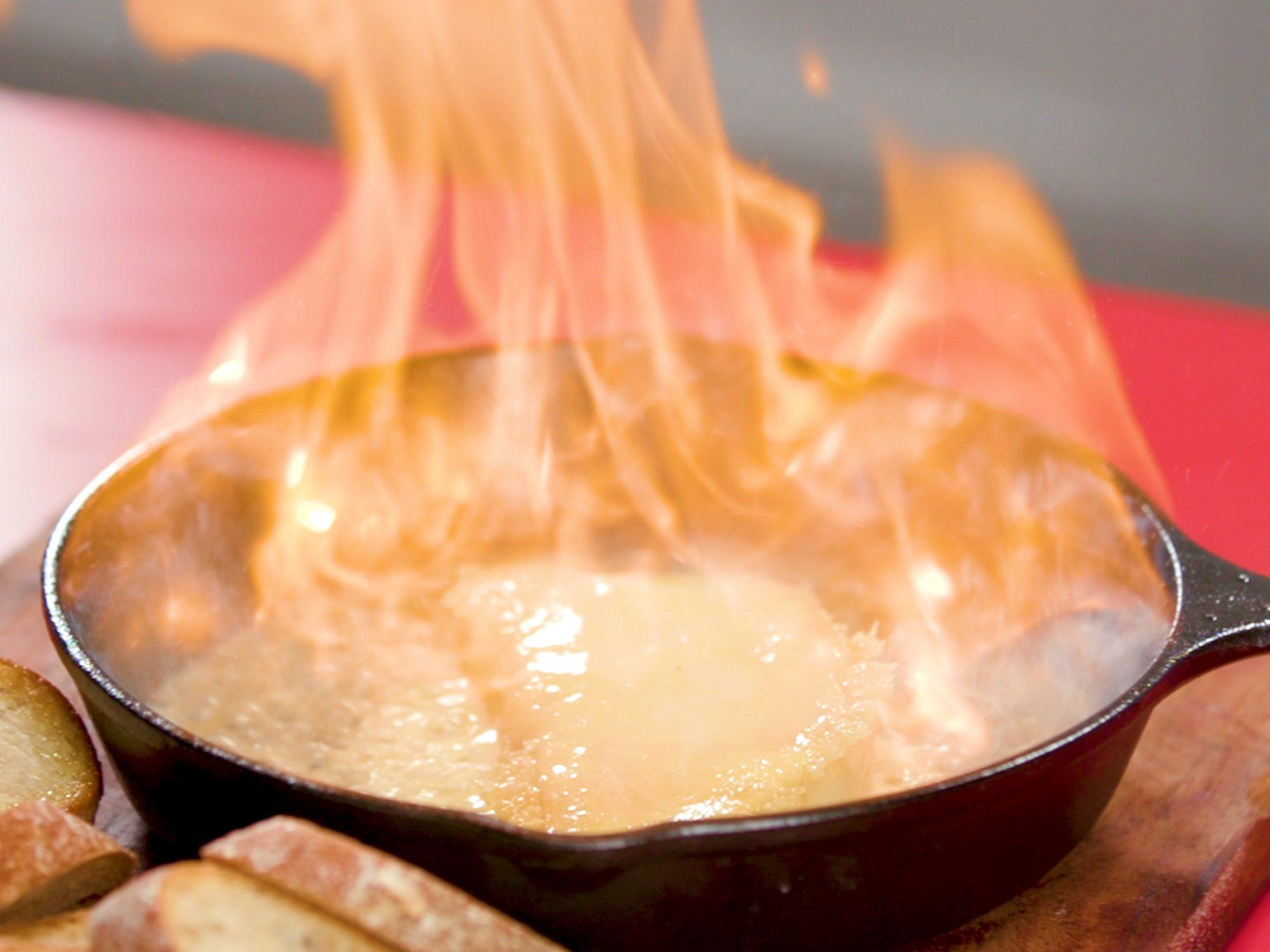 Flaming Cheese (Saganaki)