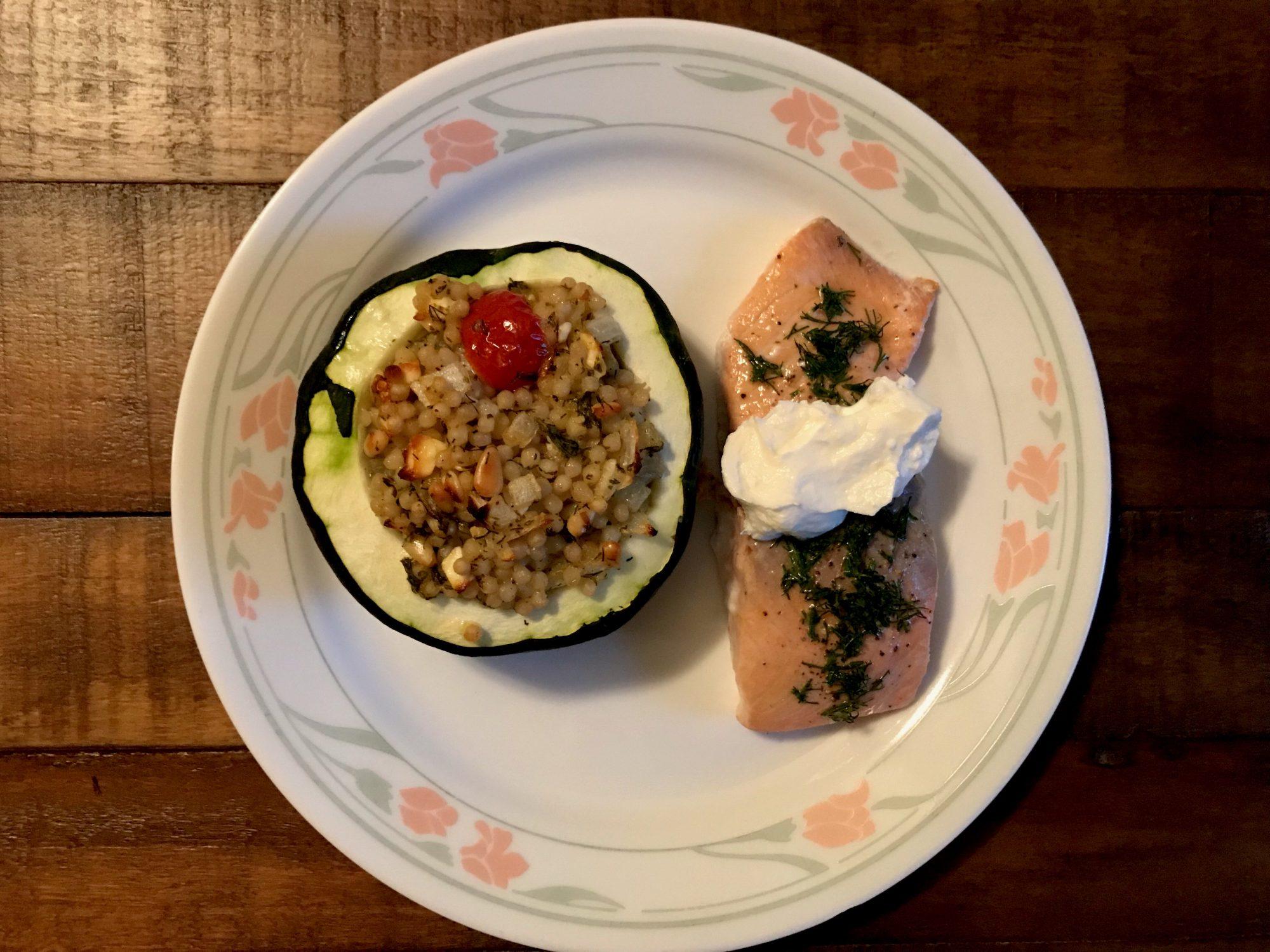 Pattypan Squash plate