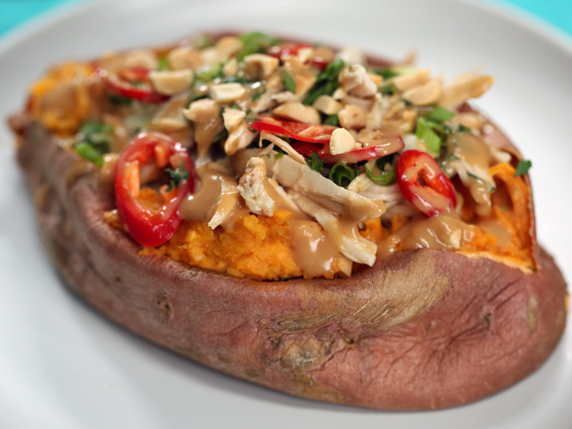 Thai Chicken Stuffed Sweet Potato image