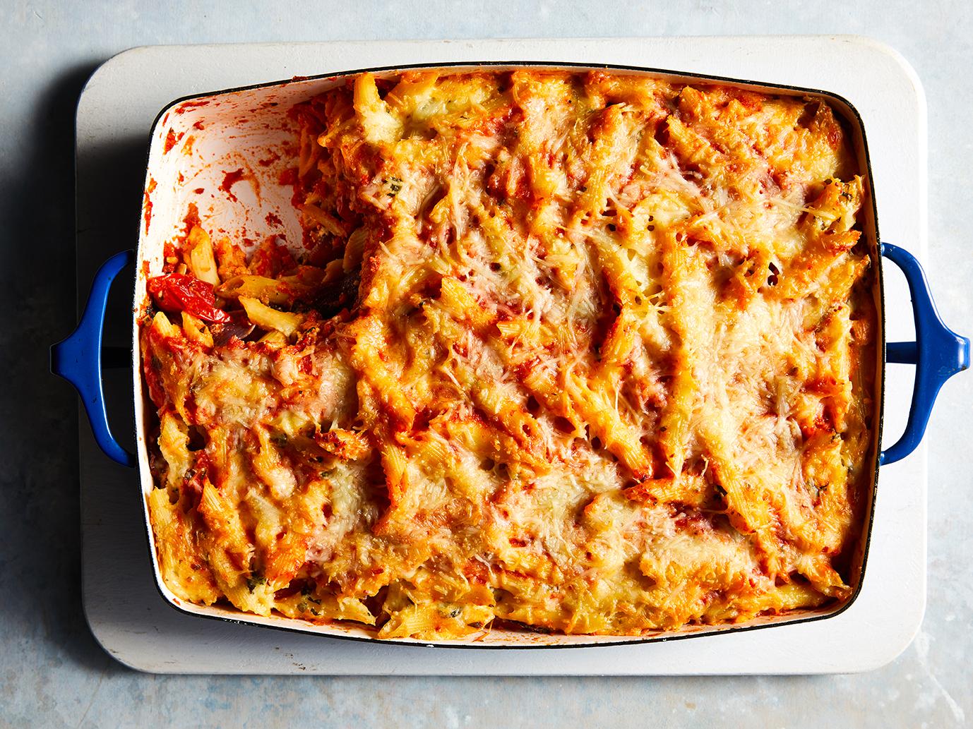 Roasted Vegetable Baked Ziti