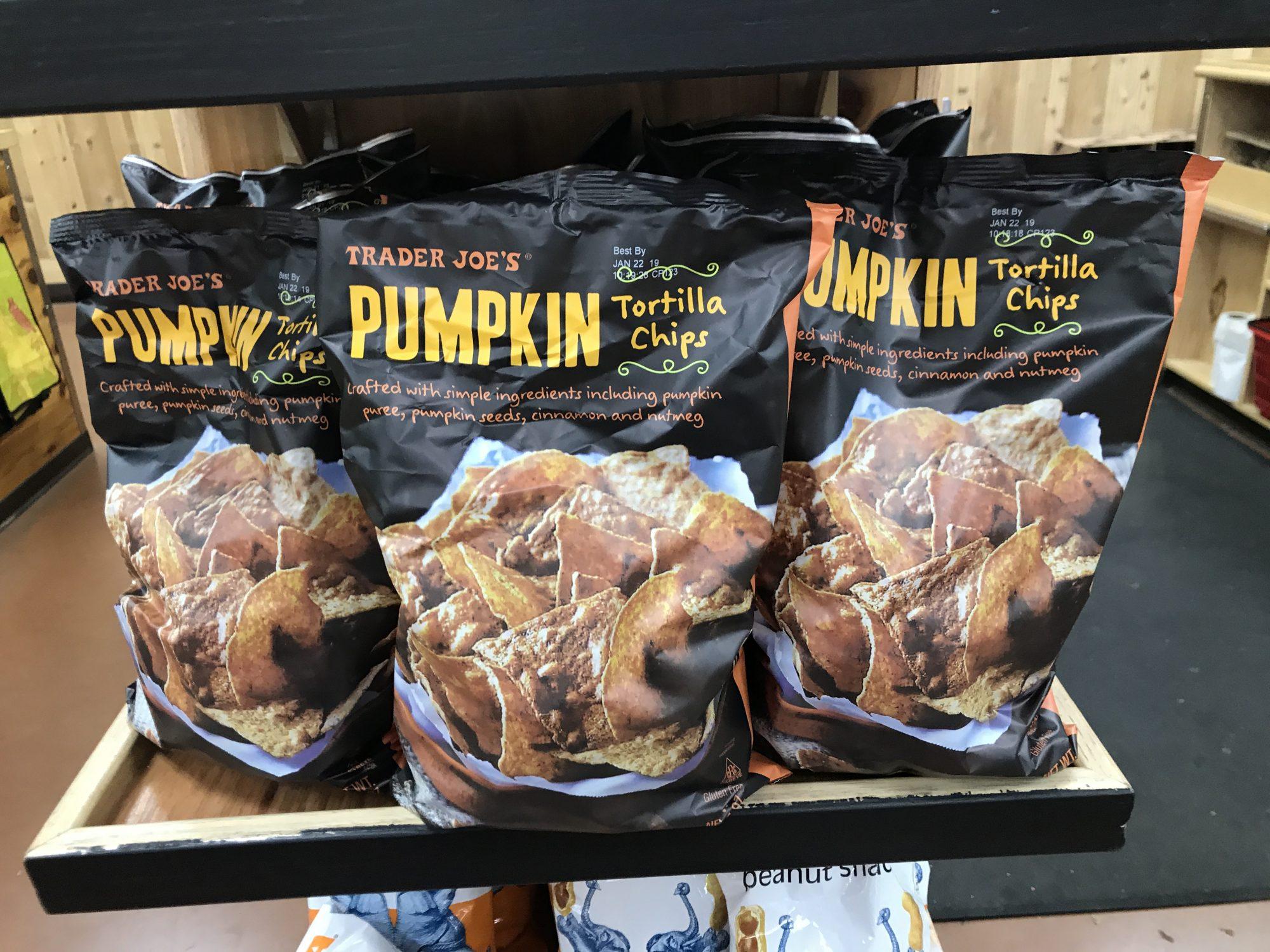 TJ's Pumpkin Tortilla Chips