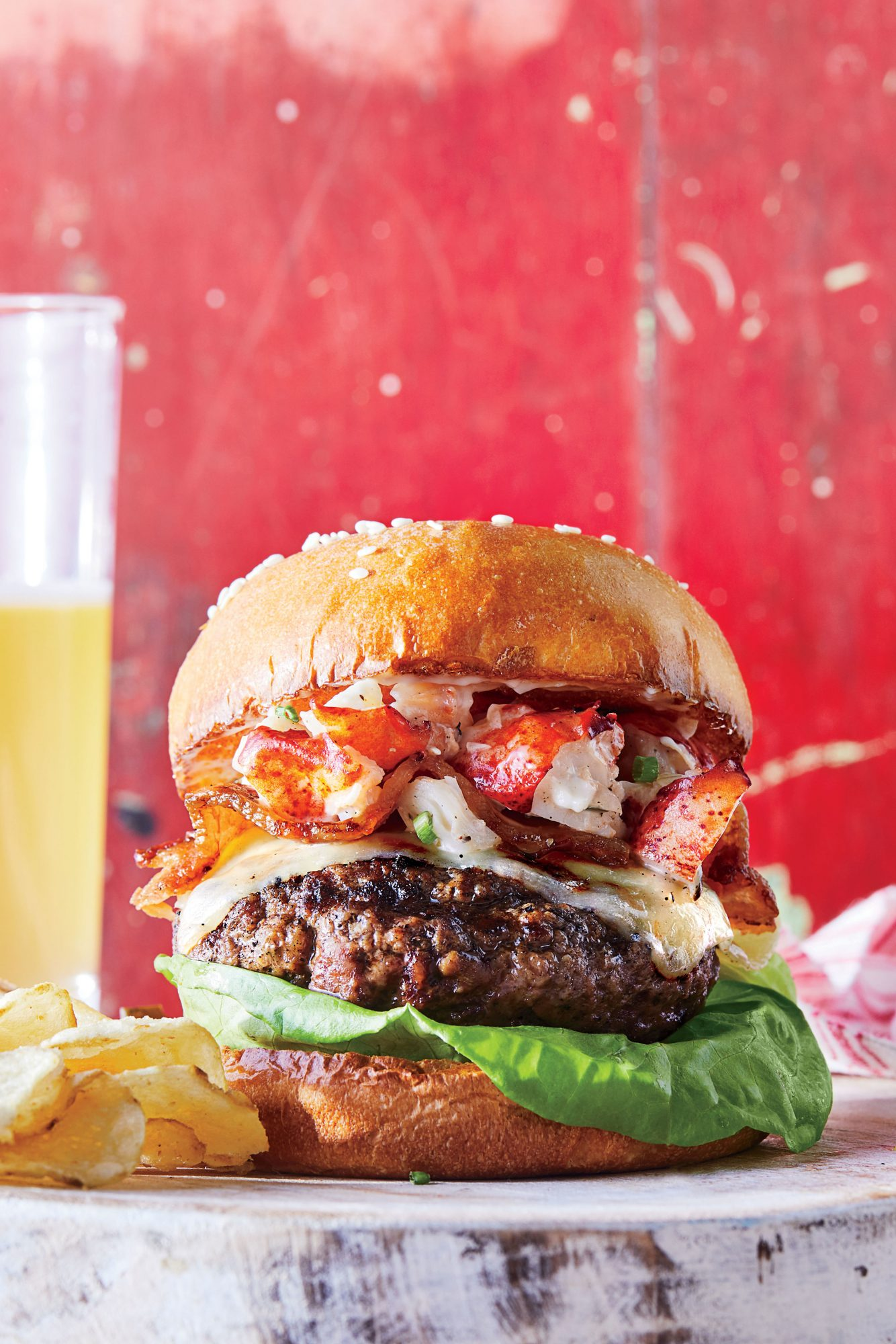 New England Lobster Salad Burger