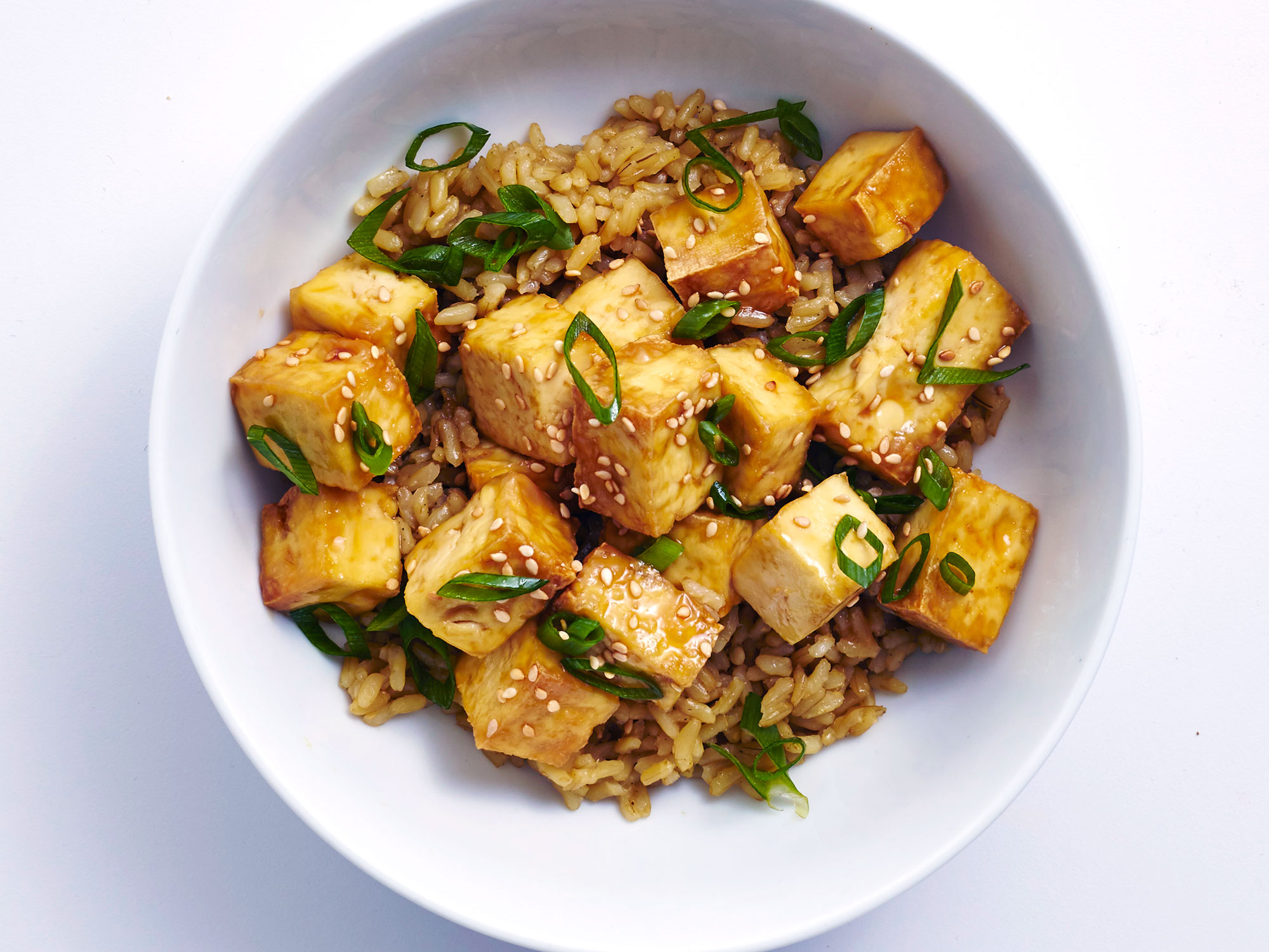 Crispy Air-Fryer Tofu with Toasted Sesame