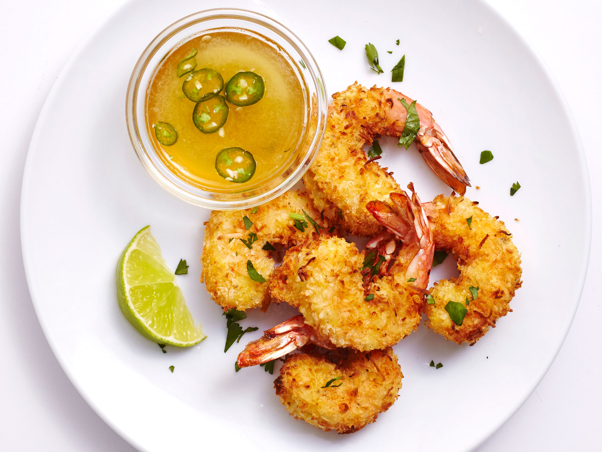 Air-Fryed Coconut Shrimp