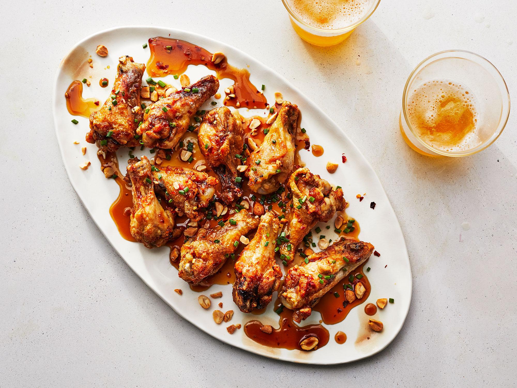 Spicy Air-Fried Chicken Drummettes