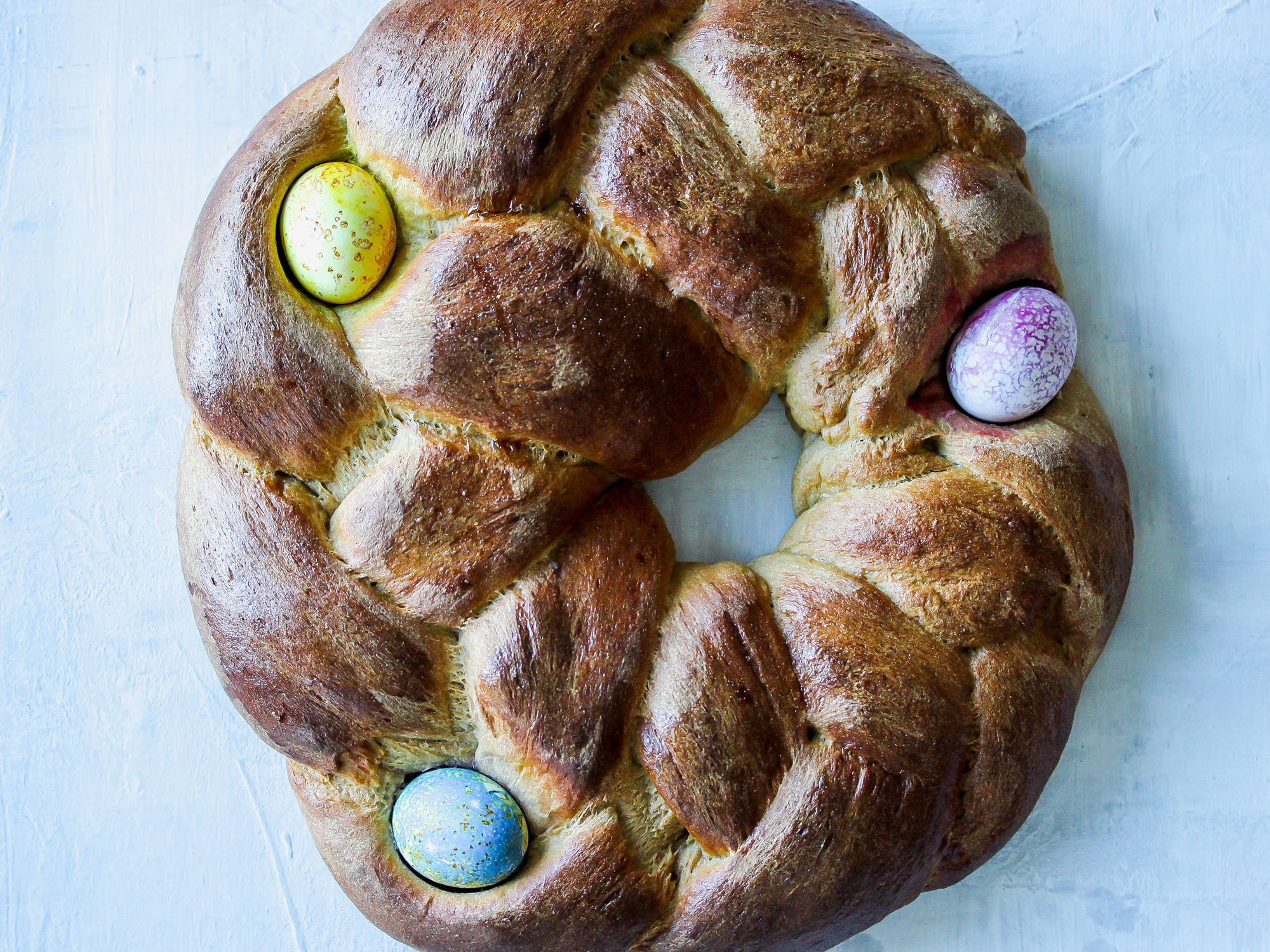 Whole Wheat Easter Egg Bread