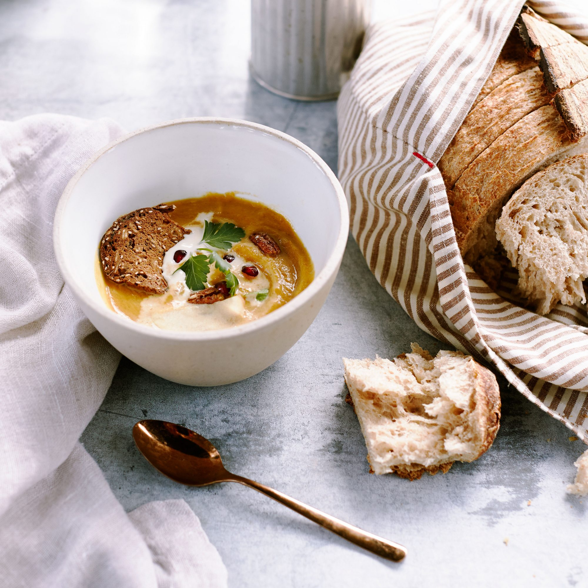 Spiced Apple Butternut Squash Soup