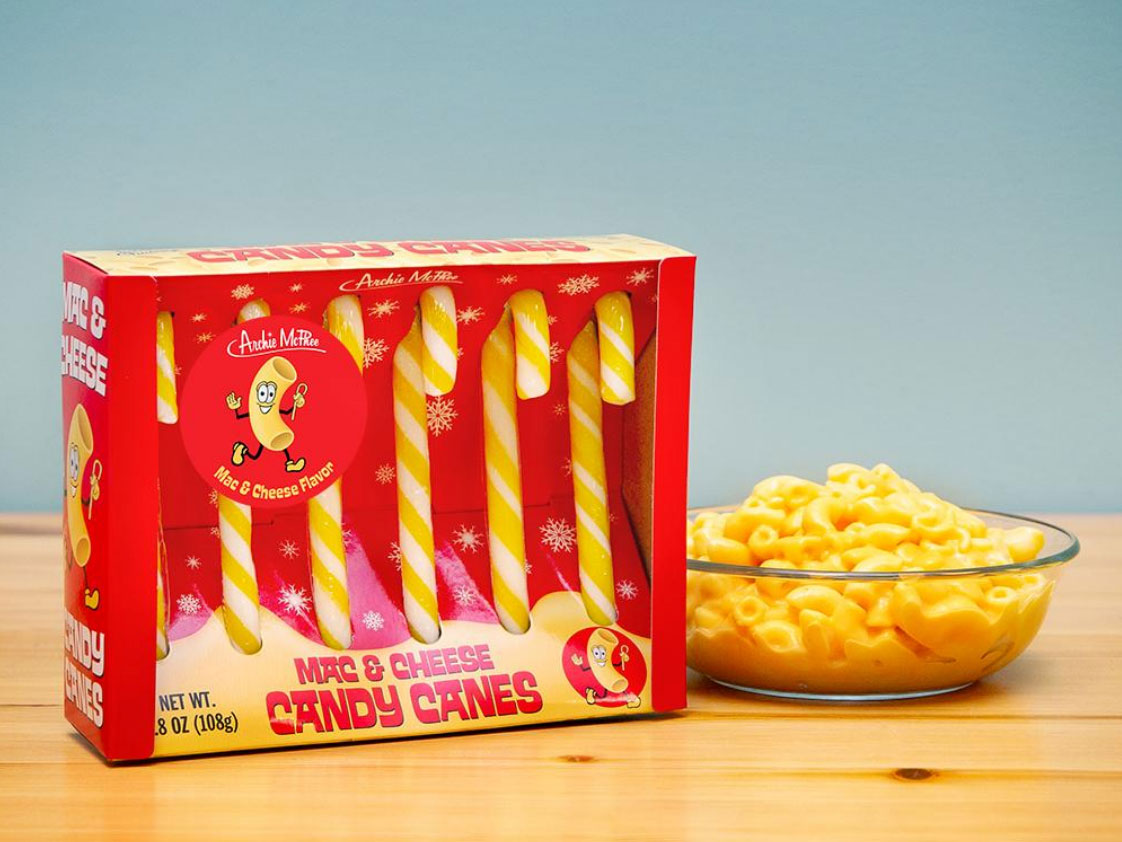 Mac And Cheese Flavored Candy Canes Are Peak Weird