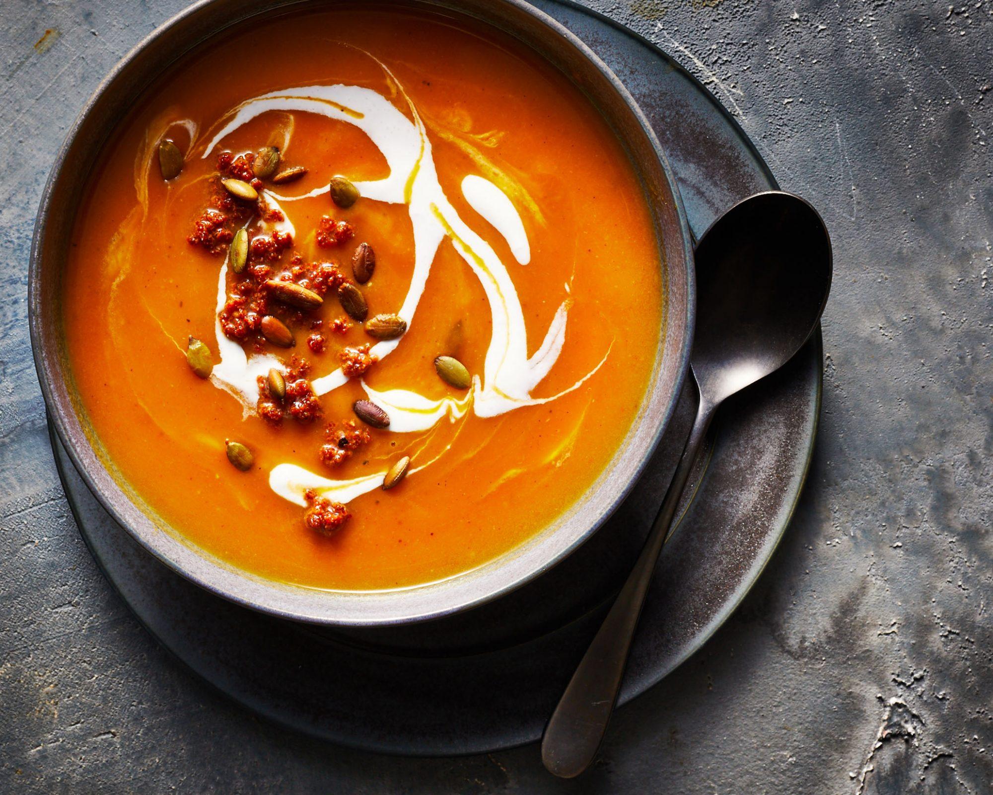 Instant Pot Chorizo Butternut Squash Soup image