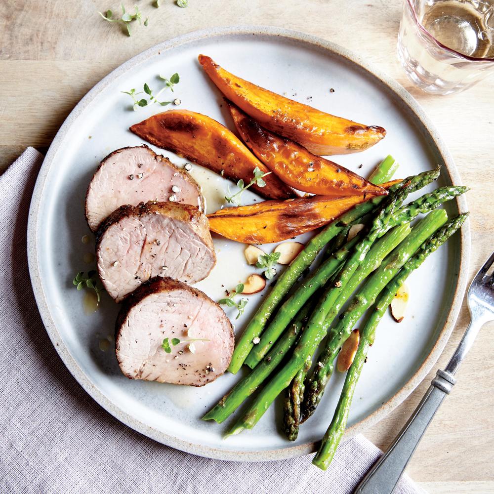Smoky Pork Tenderloin with Roasted Sweet Potatoes