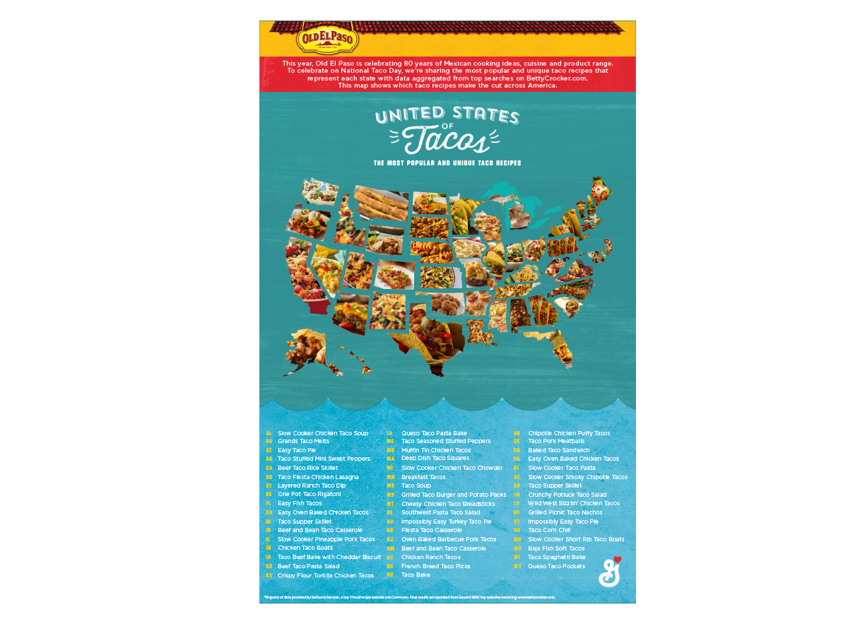 Celebrate National Taco Day With The Most Popular Taco Recipe in Every State