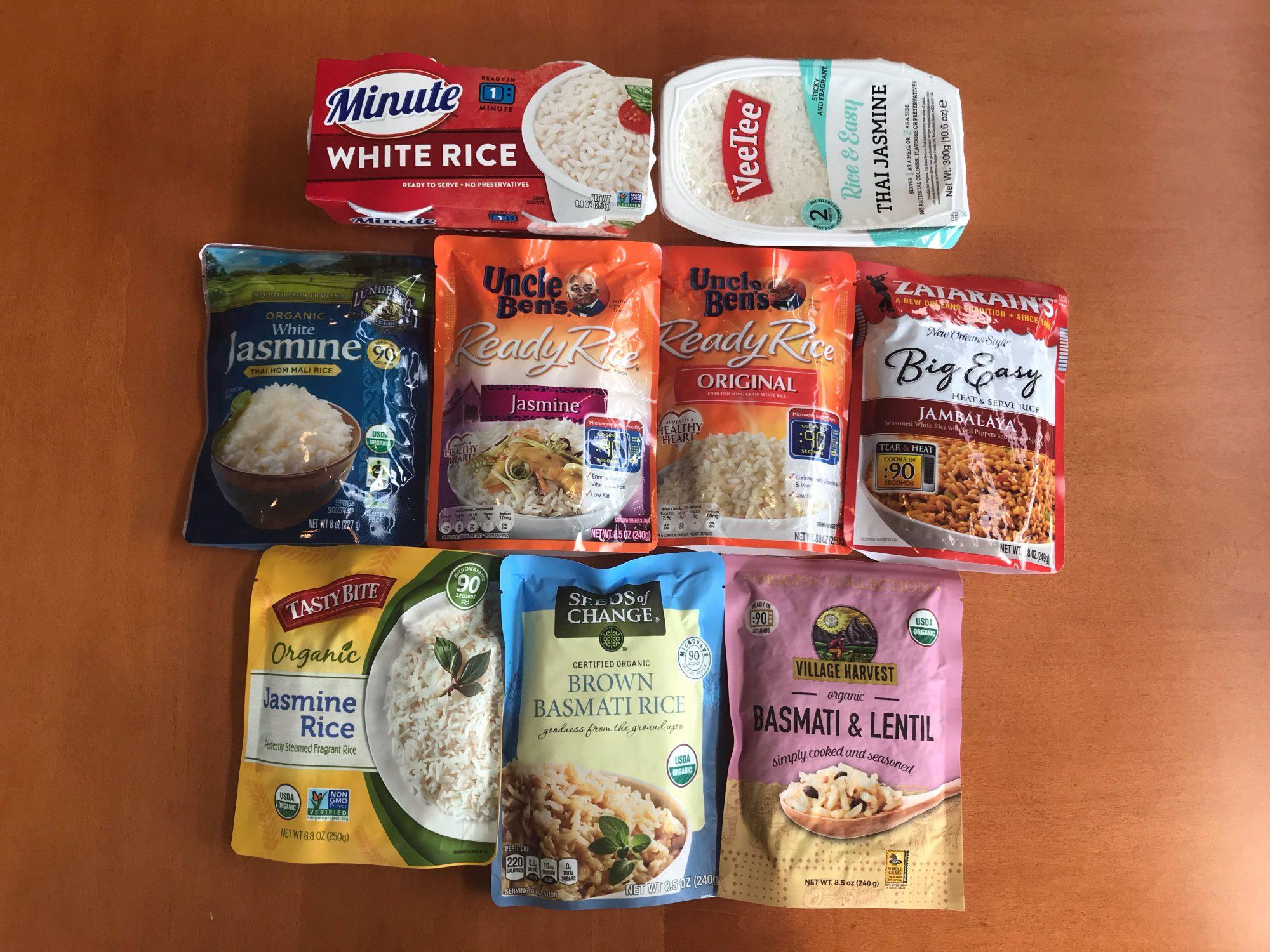 Rice taste test