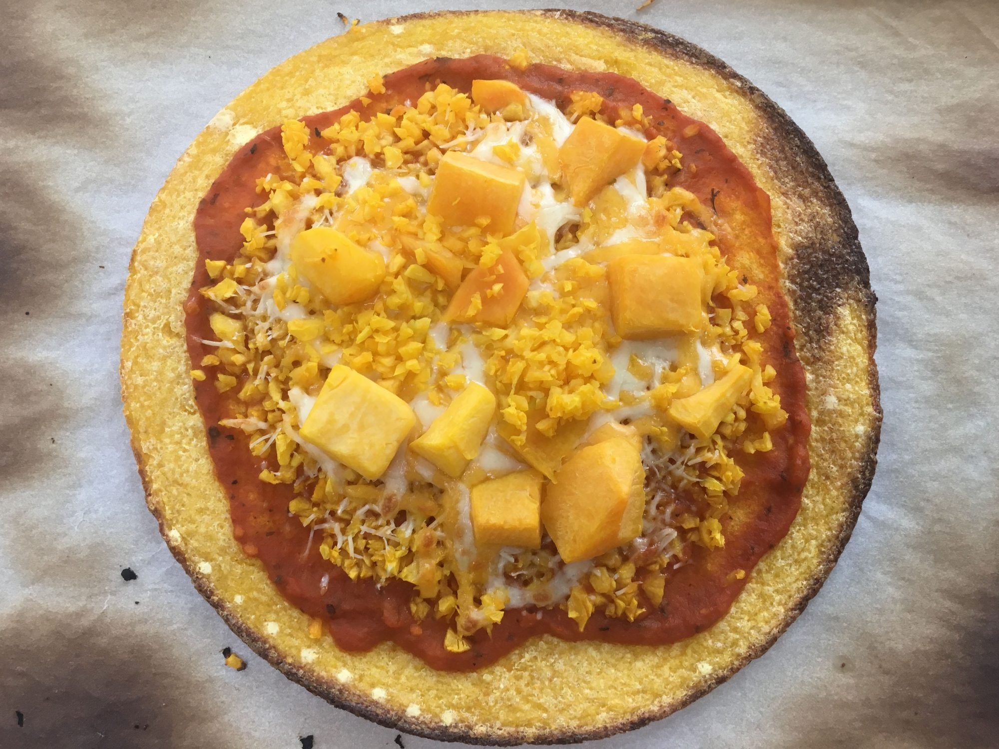 Trader Joe's Butternut Squash Pizza Crust Baked
