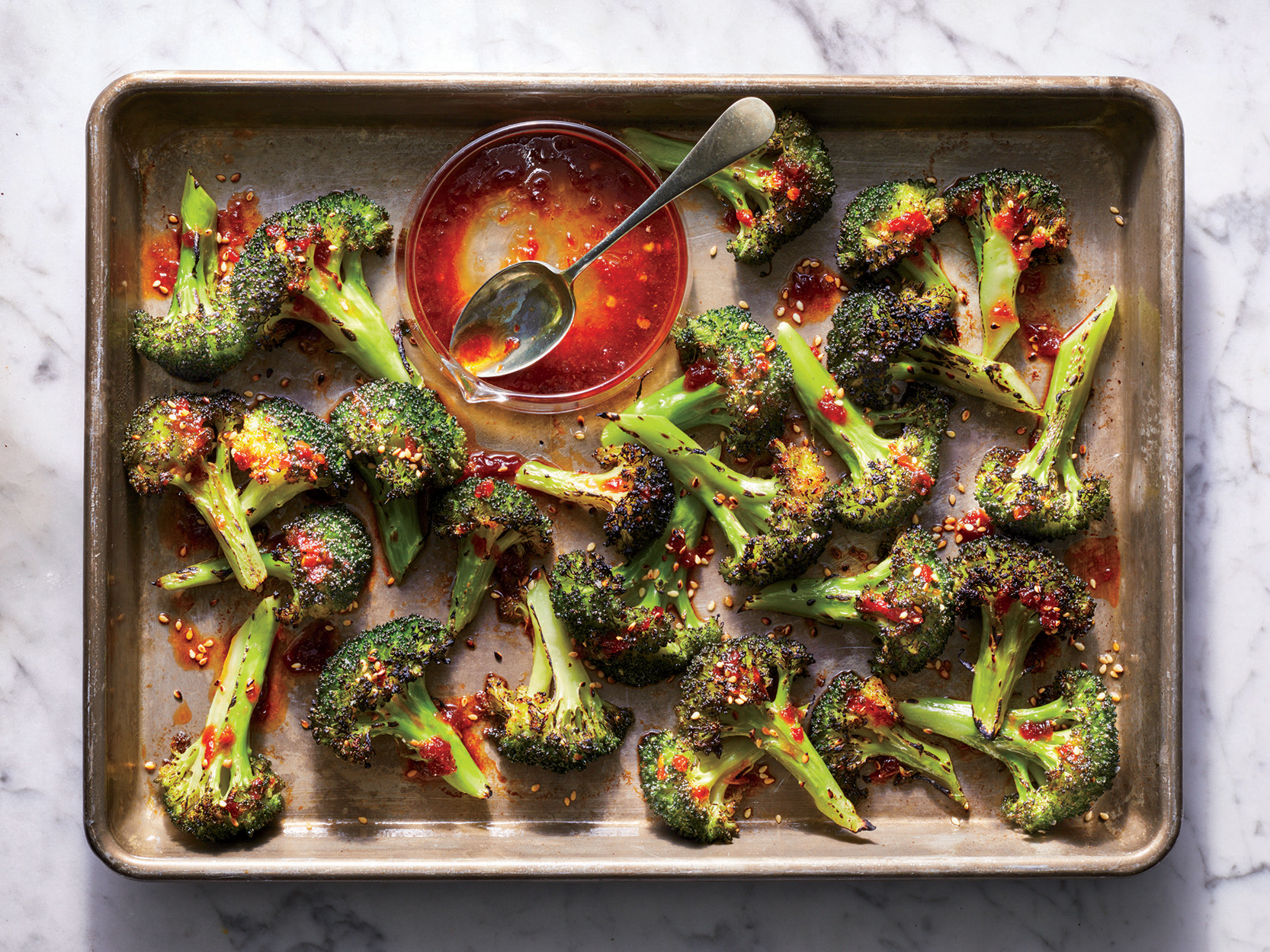 Charred Orange-Chile Broccoli