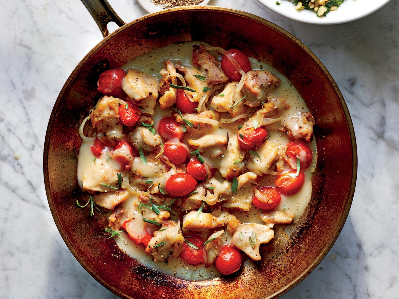 Creamy Chicken-Tomato Skillet