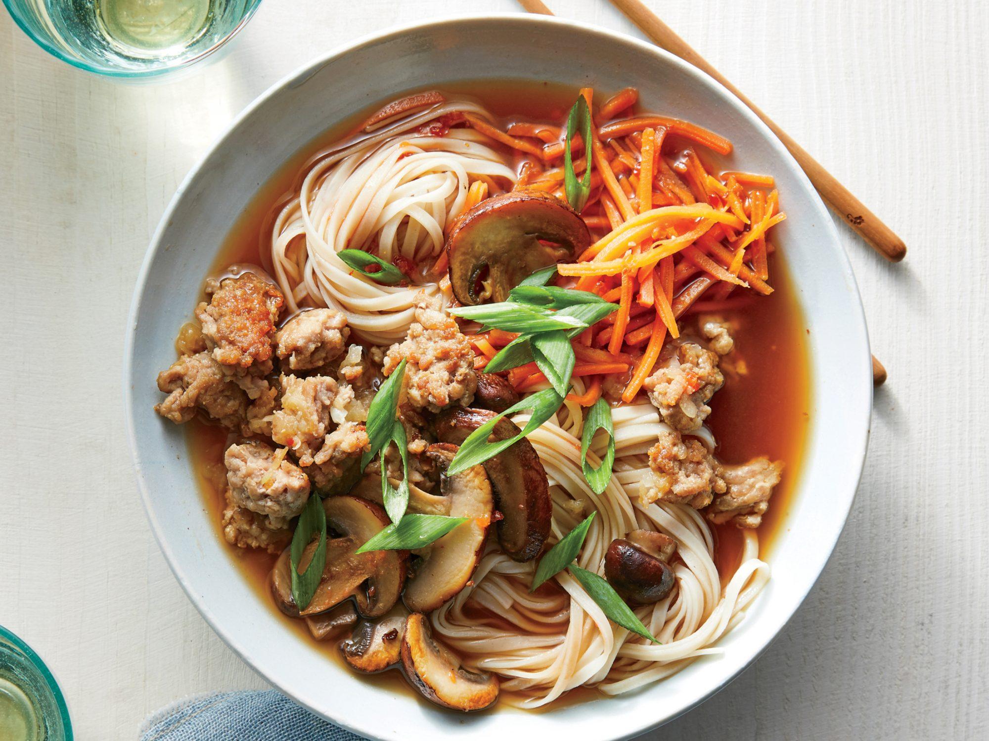 Garlic-Miso Pork Noodle Bowl
