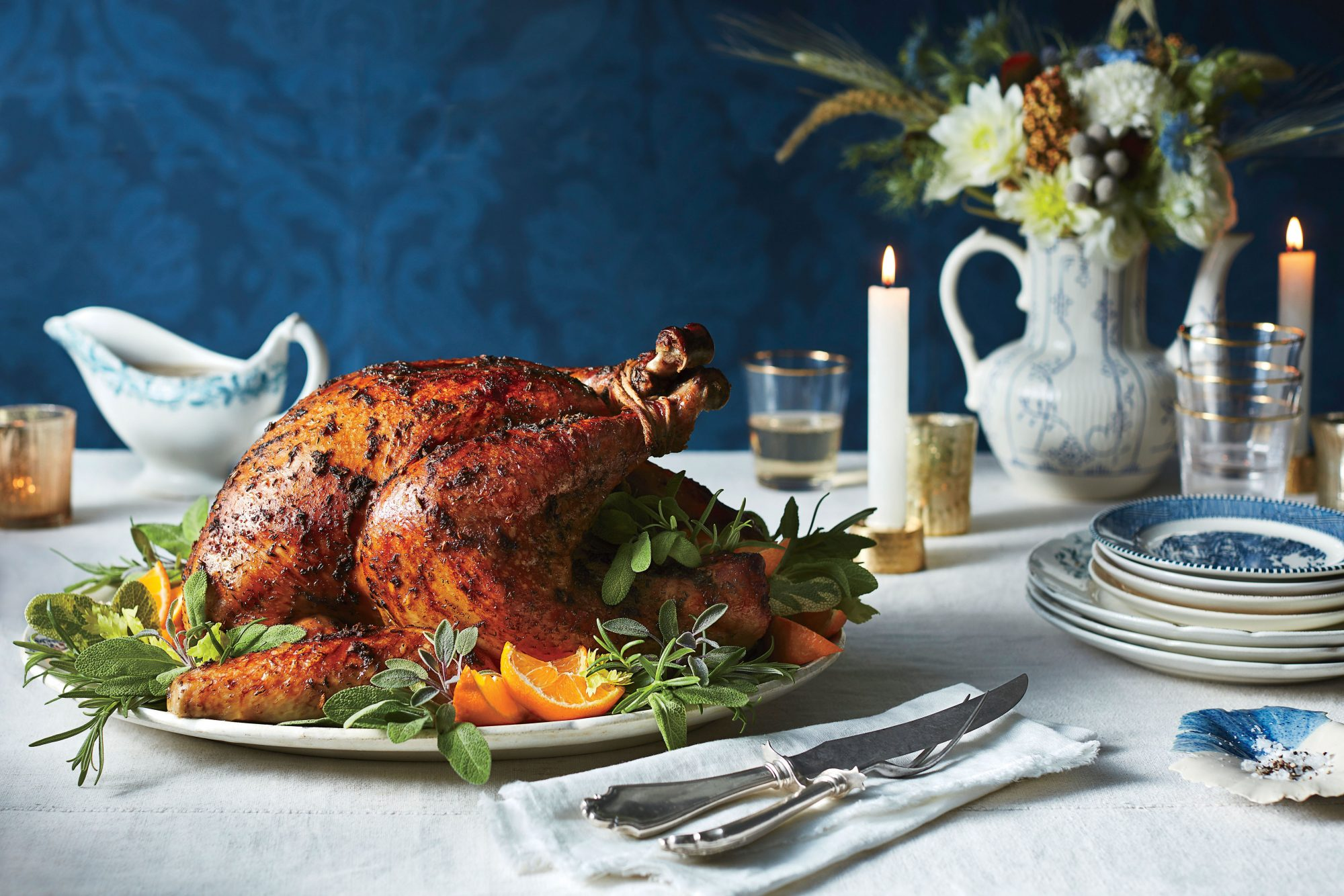 Roasted Herb Turkey and Gravy