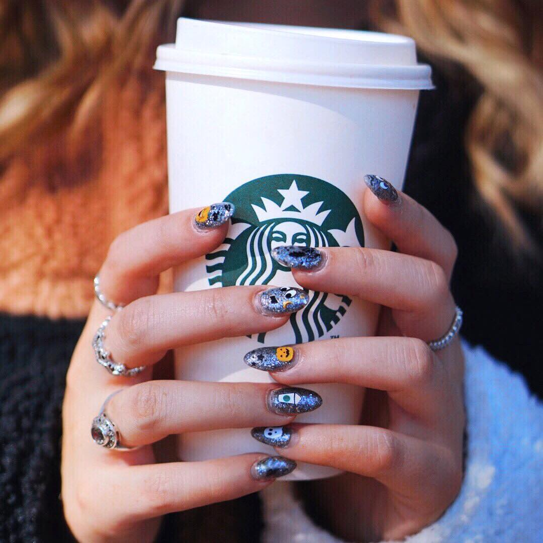 Starbucks Made Nail Decals for Hardcore PSL Fans