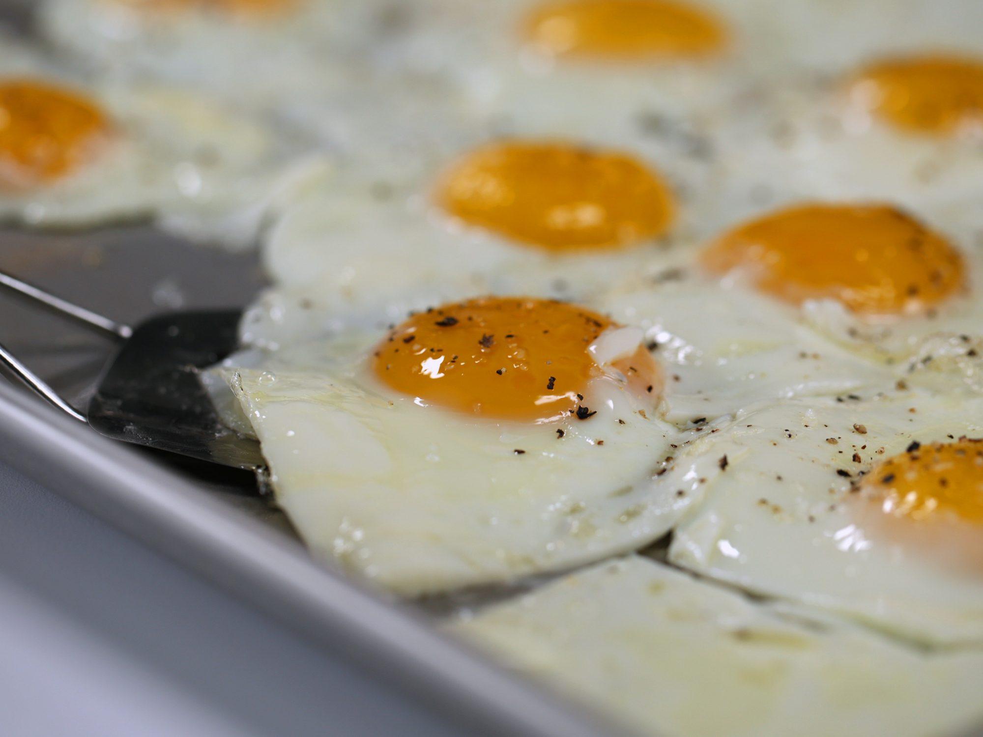 Sheet Pan Fried Eggs