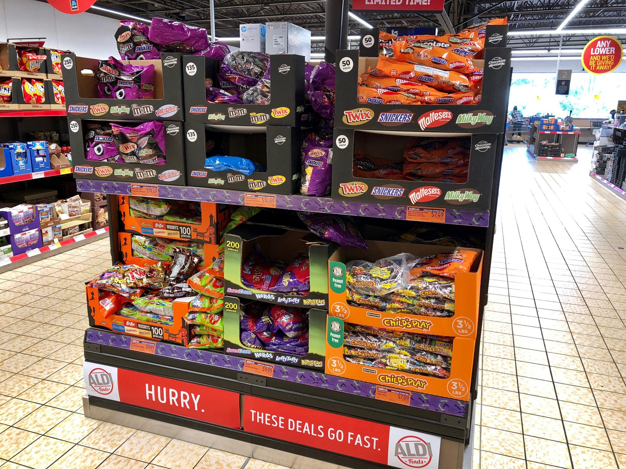 Need Halloween Candy? Aldi Has Crazy-Good Deals on These 10 Brands 1810w-Halloween-Candy-Aisle