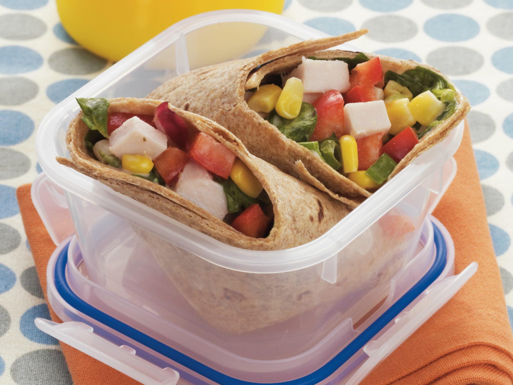 Turkey Vegetable Wraps