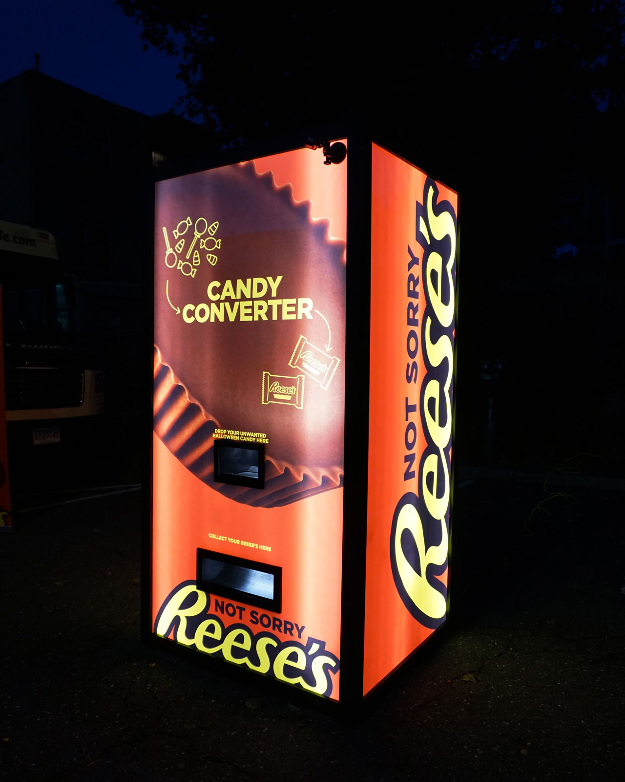 Reese's Created a 'Candy Exchange Vending Machine' to Swap Out All the Halloween Treats You Hate