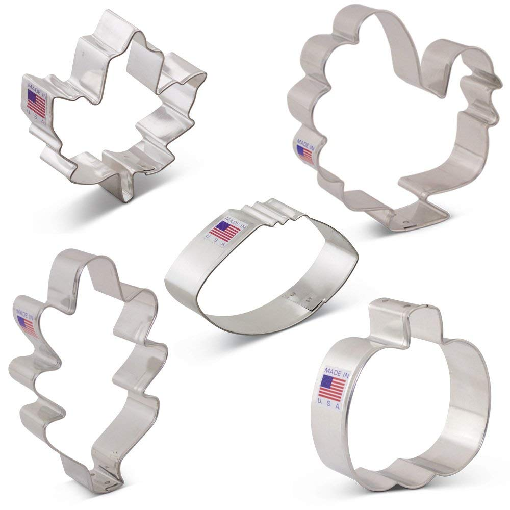 Fall Thanksgiving Cookie Cutter Set with Recipe Book