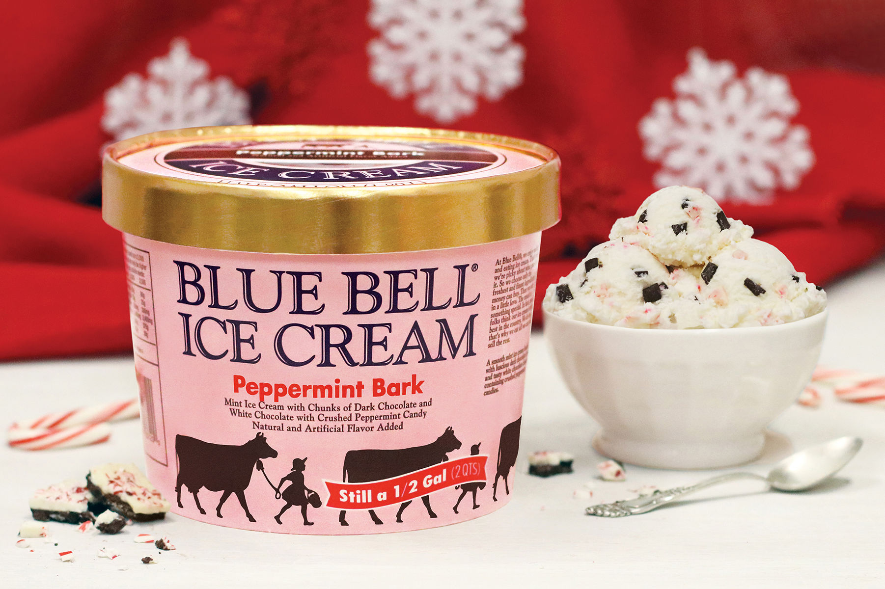 Blue Bell Peppermint Bark Ice Cream