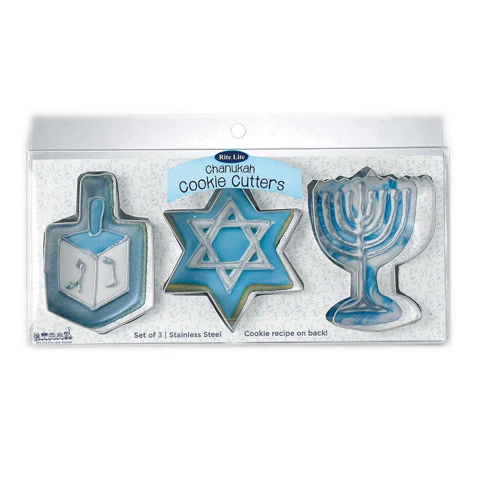 Metal Chanukah Cookie Cutters
