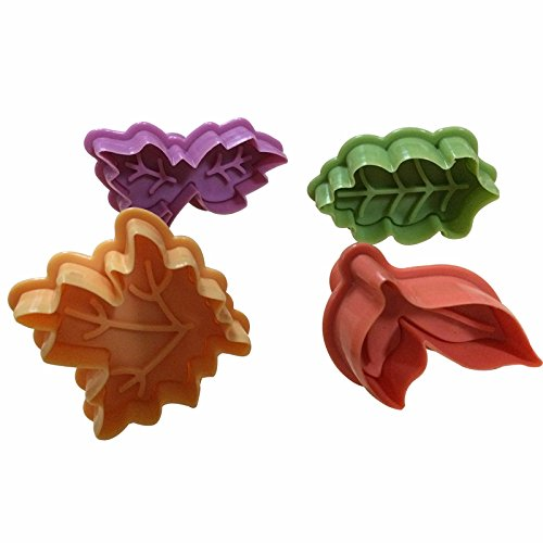 Joinor Cake Leaves Baking Pie Crust Cutters Set of 4
