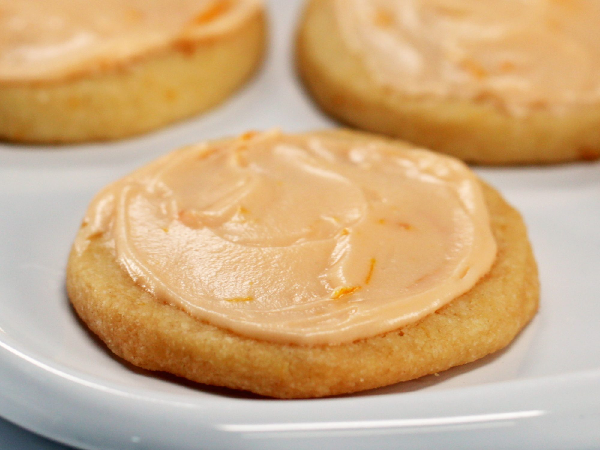 Orange Sugar Cookies With Orange-Cream Cheese Frosting image