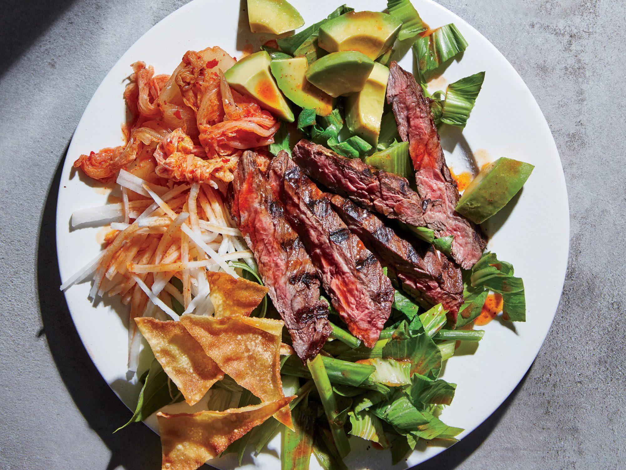 Korean Skirt Steak Salad
