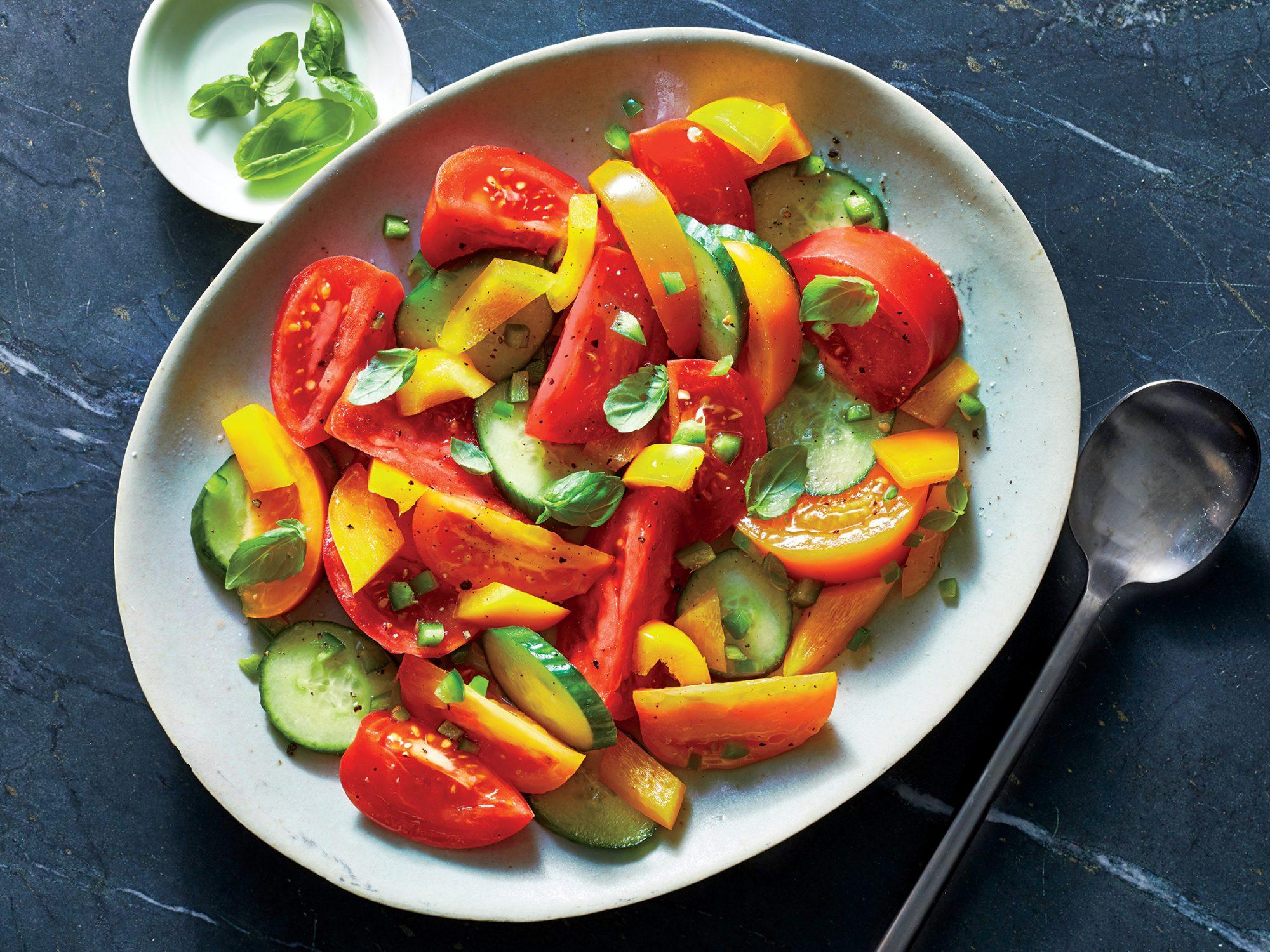 Spicy Tomato-Cucumber Salad