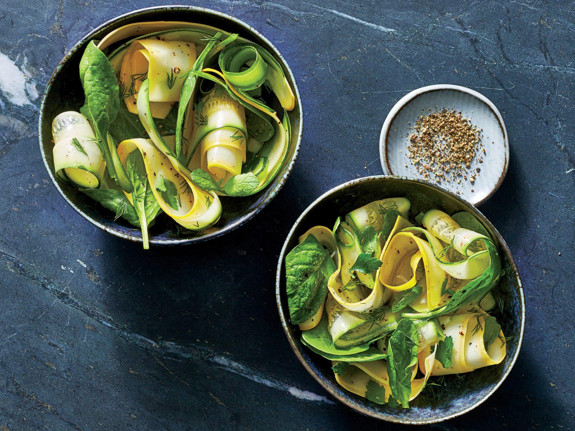Squash-Ribbon Salad with Herbs