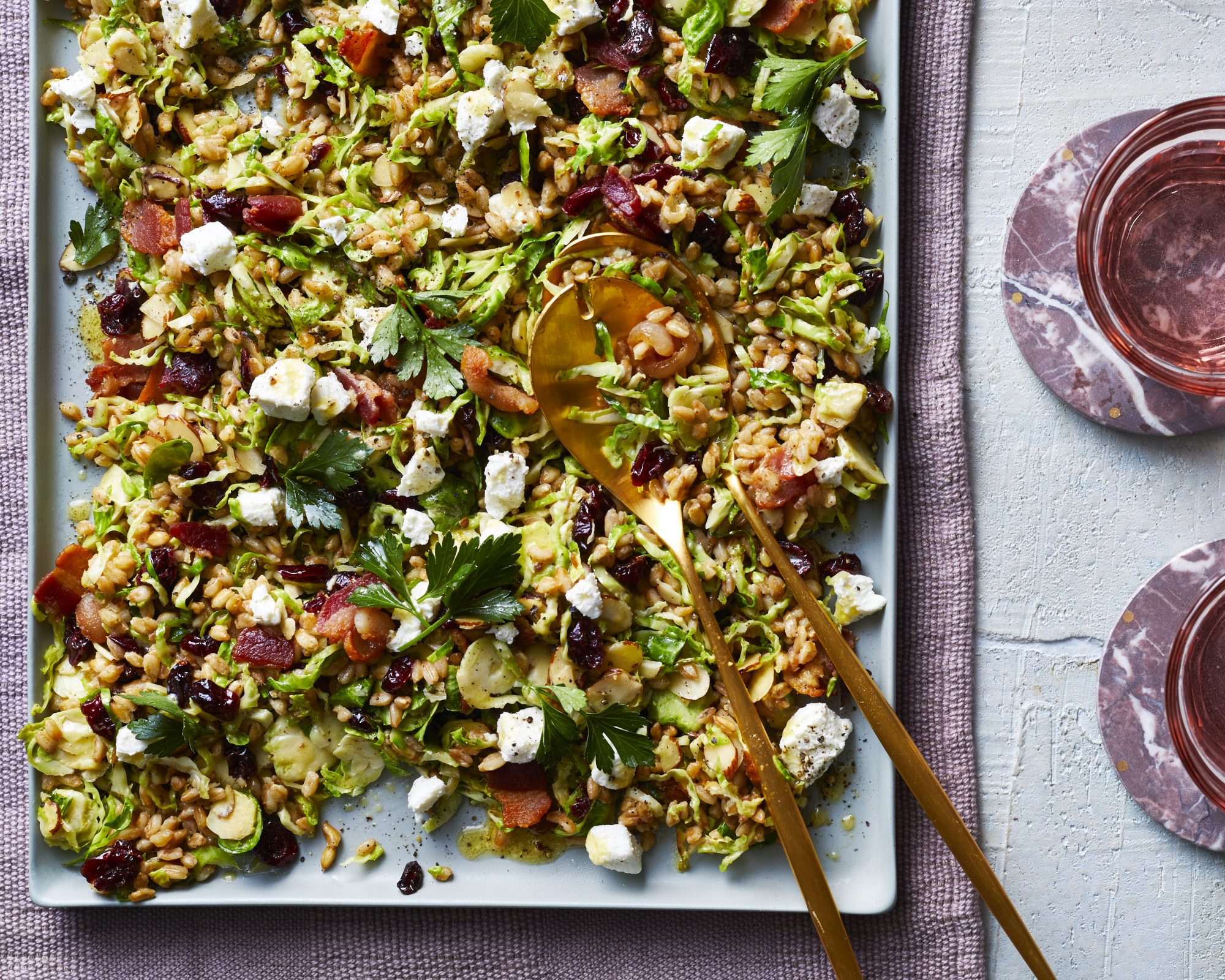 Instant Pot Brussels Sprouts and Farro Salad