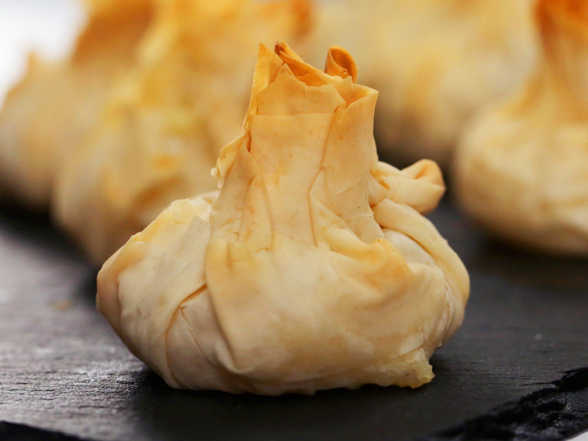 Cheese-and-Potato Purses