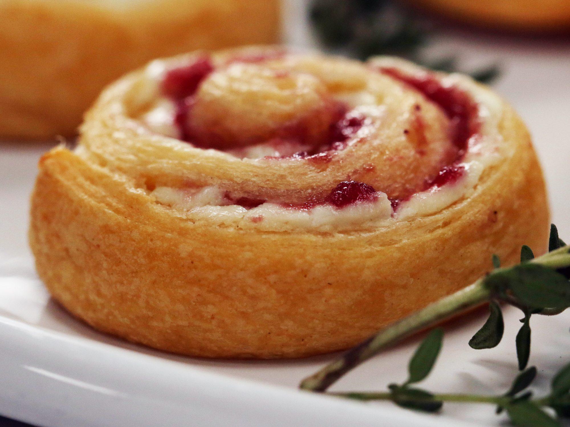 Cranberry-Goat Cheese Pinwheels