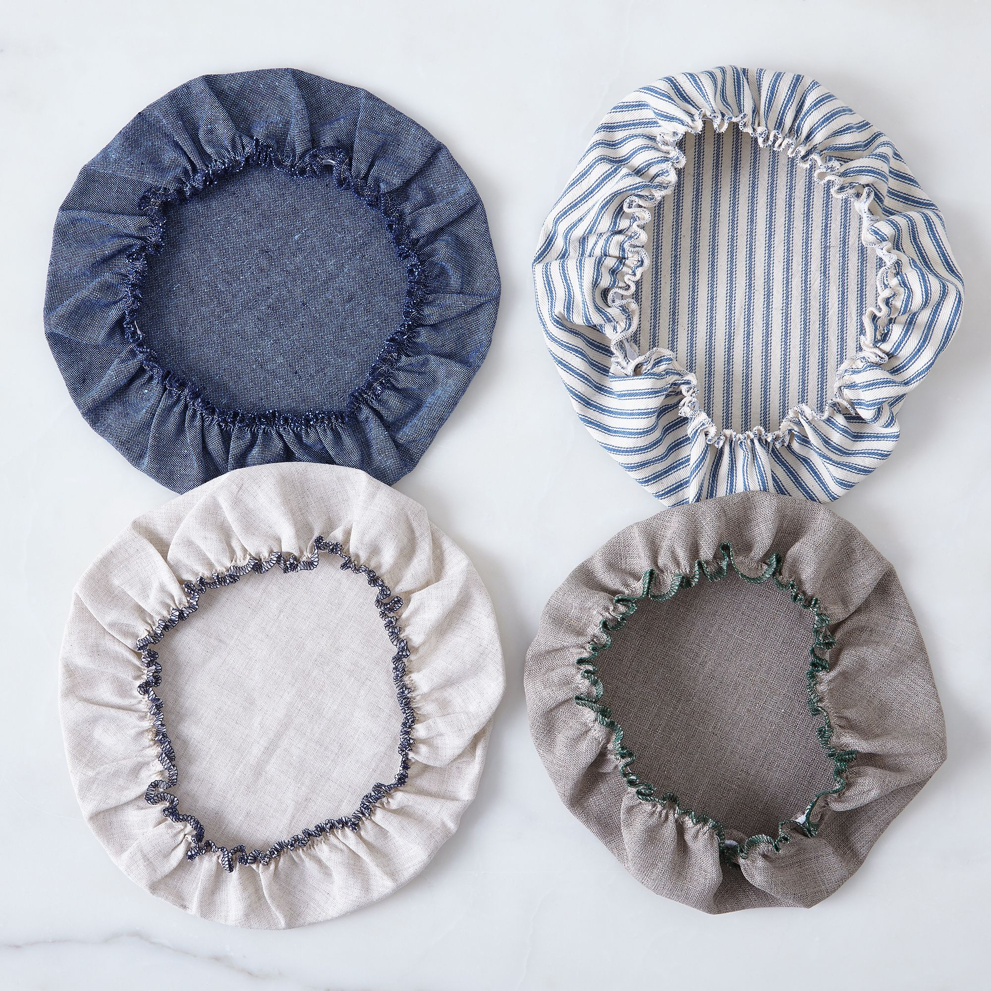 Linen Bowl Covers, Set of 6