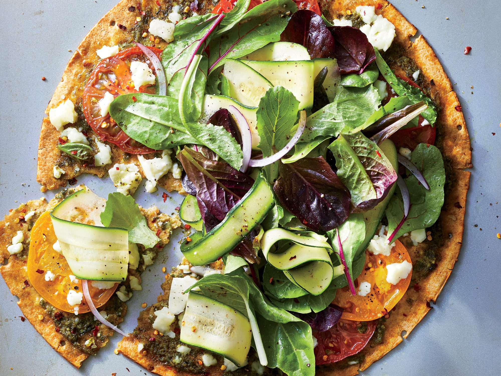 Extra-Crispy Veggie-Packed Pizza