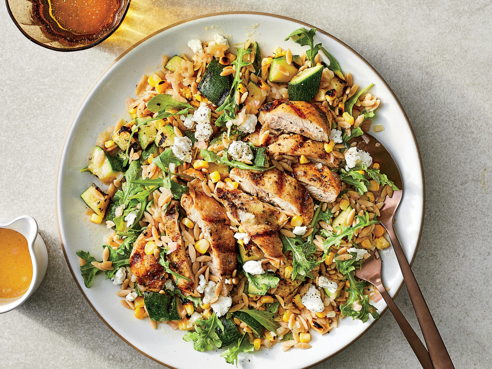 Grilled Chicken And Vegetable Orzo Salad Recipe Cooking Light